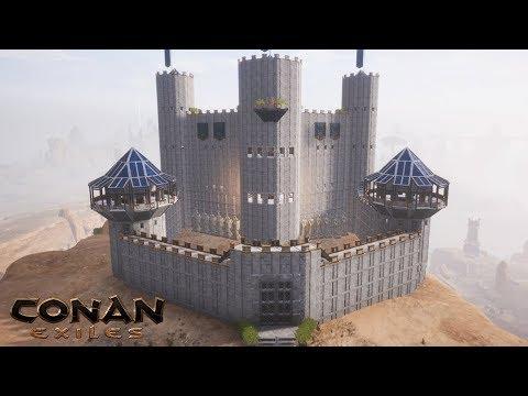 Conan Exiles - Building Castle Stormhold (Speed Build)