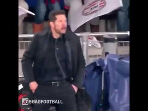 Diego Simone,Athletico Madrid coach crazy video.
