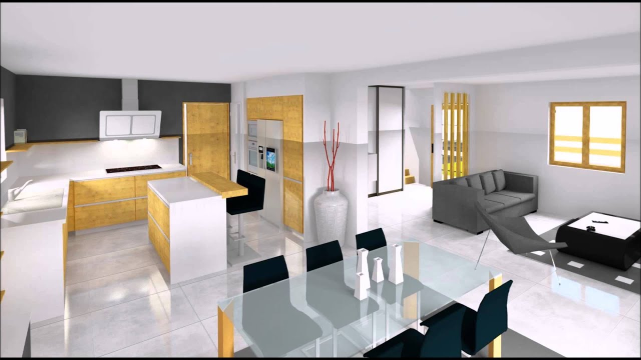 Inside m conception de plans 3d youtube for Interieur maison 3d