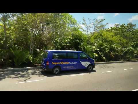 Cancun Airport Bus Ride to Playa del Carmen Mexico May 2017 4K P3