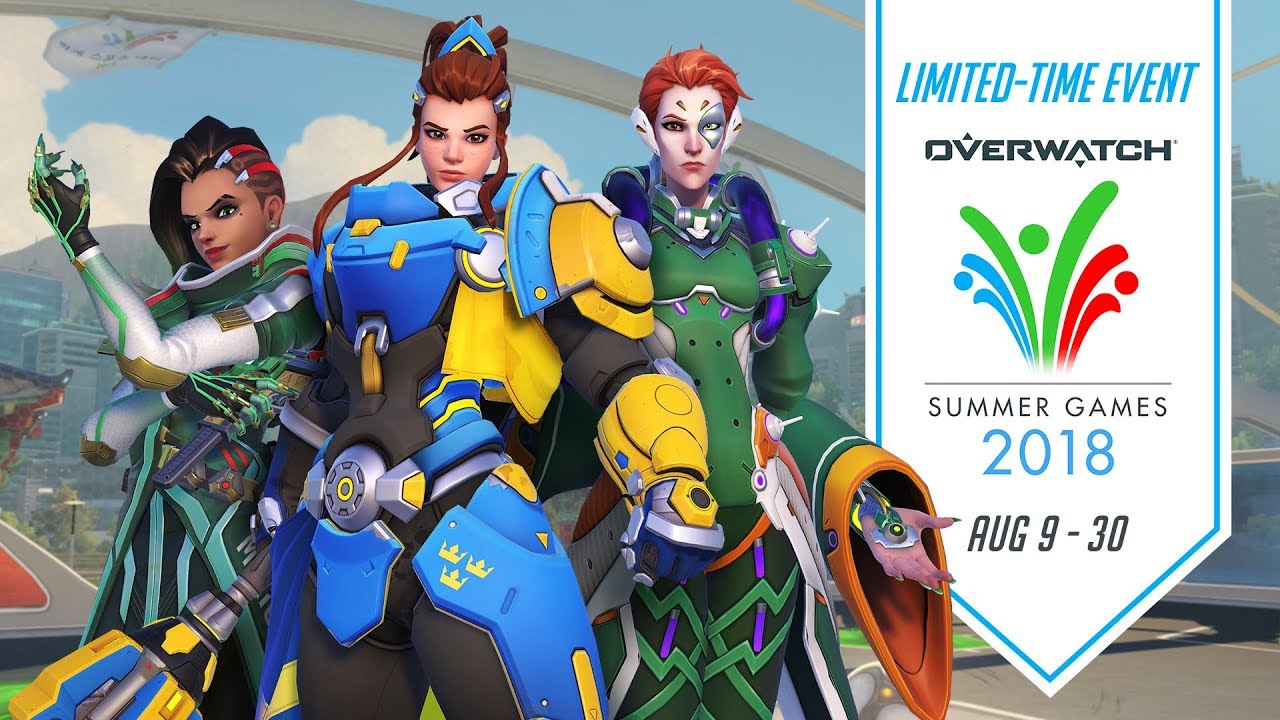 Summer Games Overwatch 2020.Overwatch Seasonal Event Overwatch Summer Games 2018