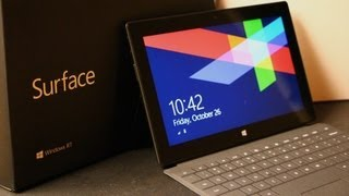 Microsoft Surface Unboxing, Windows 8 RT Tablet
