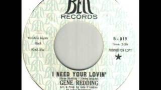 Gene Redding I Need Your Lovin