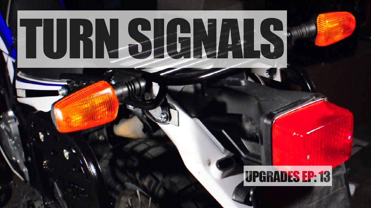 XT250 Upgrades Episode 13: HAPPY TRAIL TURN SIGNAL RELOCATION