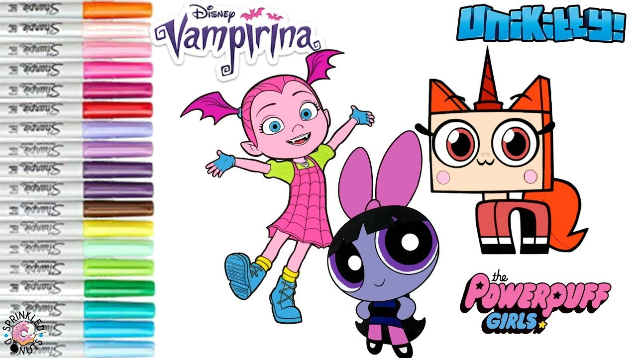 Powerpuff Girls Color Swap Coloring