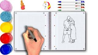 how to draw ace family and new baby dreams | ABC Songs for Children