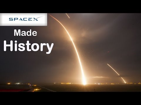 SpaceX Makes History. Falcon 9 Rocket Successfully Landed Upright after launching 11 Satellites