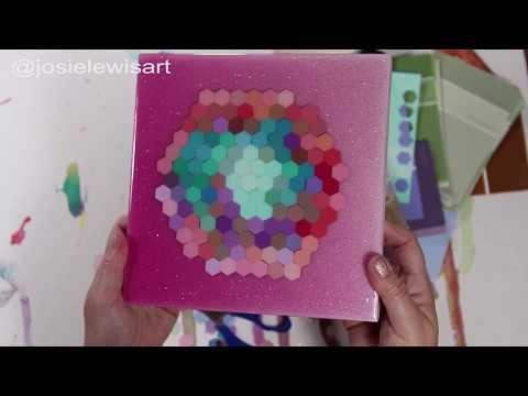 Resin Art Tutorial: Resin Hexagon Collage Step-by-Step