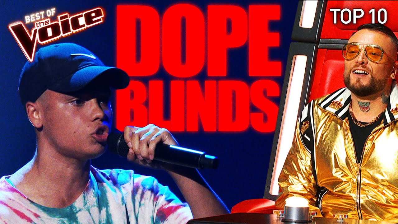 The DOPEST Blind Auditions on The Voice | Top 10