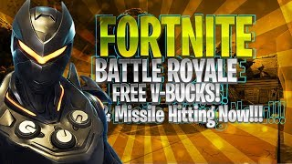 🔴 Fortnite Battle Royale Missile Hitting RIGHT NOW!!! | 7,500 v-bucks Giveaway!!!