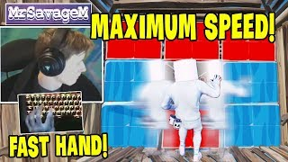 MrSavageM Shows His HandCam *Maximum Editing Speed* | Fortnite Relax