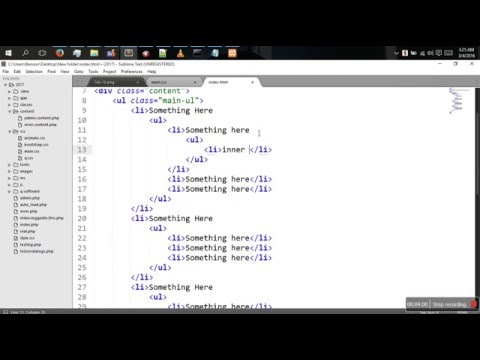 How To Create Html And Css Tree Structure [HTML AND CSS TUTORIAL]