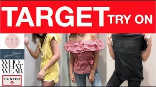 TARGET TRY ON I A NEW DAY, WHO WHAT WEAR, UNIVERSAL THREAD, HUNTER FOR TARGET
