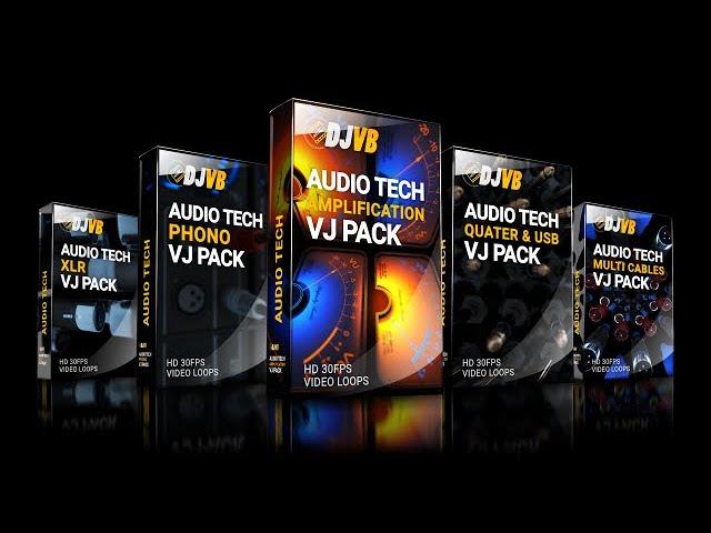 VJ Visuals - Audio Tech Bundle Mix (Short)