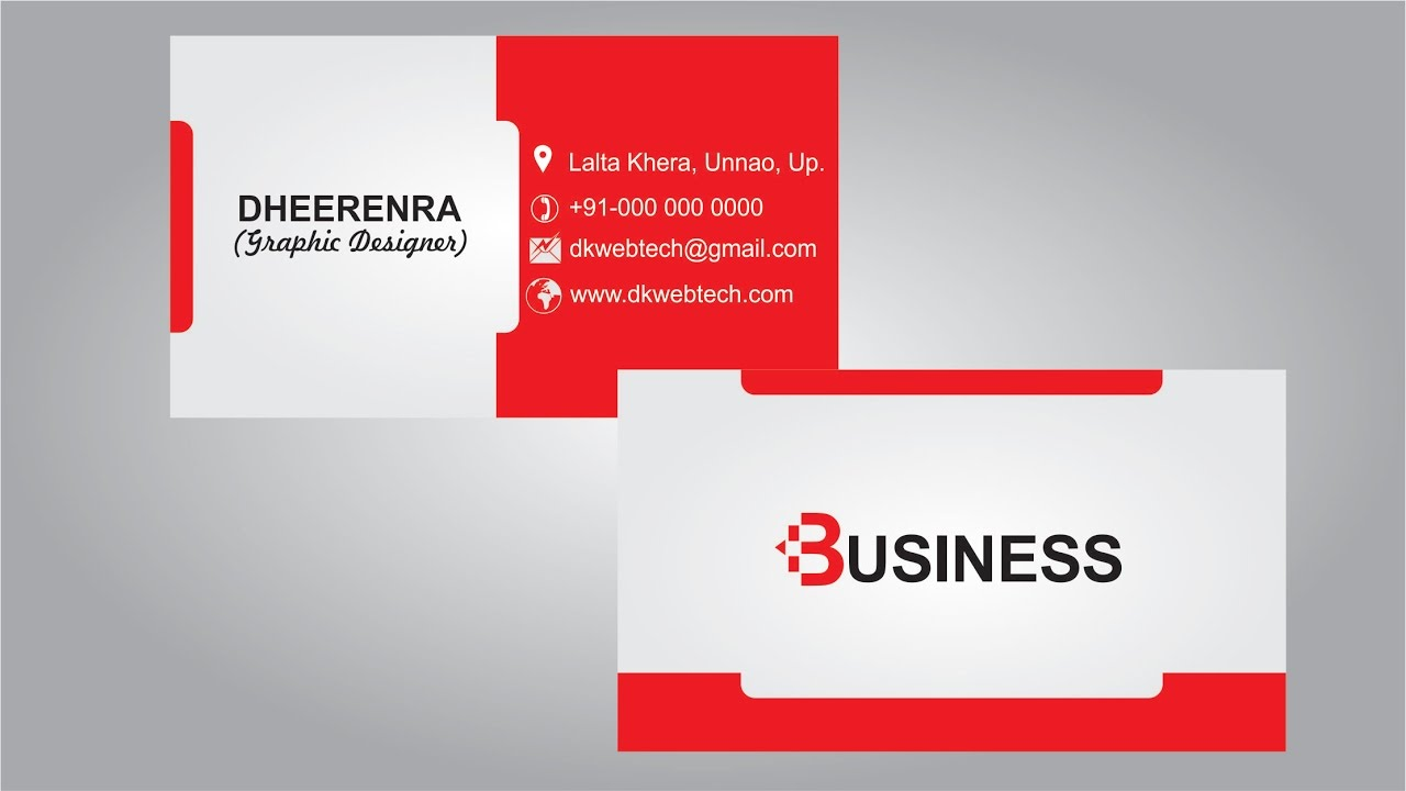professional business card designing ideas 02 coreldraw x8 in hindi - Business Cards Design Ideas