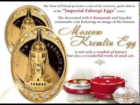 "$2000 Gold Coin - ""The Moscow Kremlin Egg"" - 10 Oz 999,9 Gold - Imperial Fabergé Eggs series"