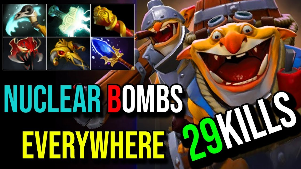 Nuclear Bombs Everywhere Techies Carry Items Build For Lategame 29kills 7 19c Dota 2 Highlights Youtube