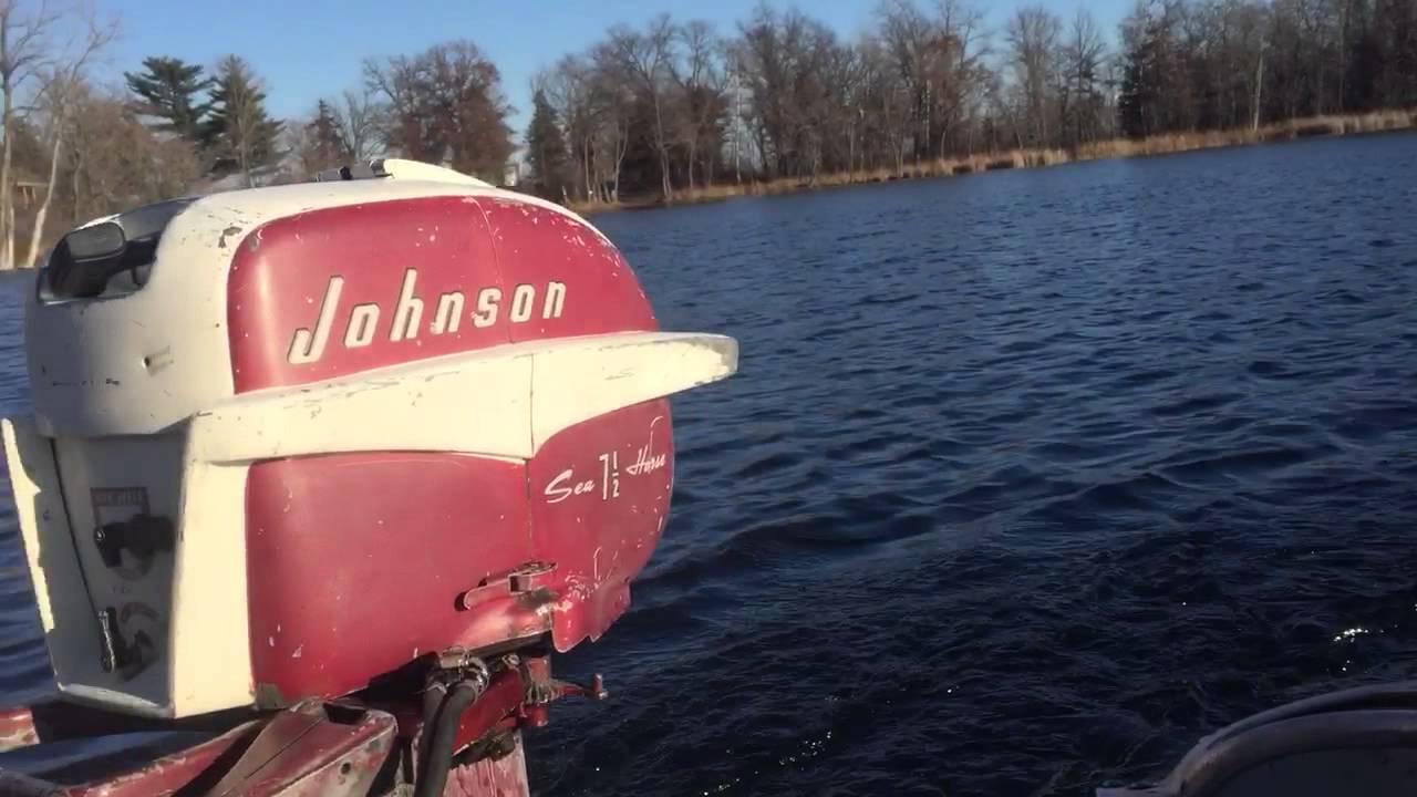 1957 johnson 7 5hp outboard motor youtube rh youtube com 1958 Johnson 10 HP 1958 Johnson Outboard Motor Sea Horse