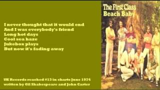 First Class - Beach Baby (+ lyrics 1974)