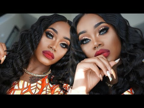 GRWM Prom 2018 Edition | DRAMATIC Bronze Makeup with WAVY hair | Special occasion | Ali grace