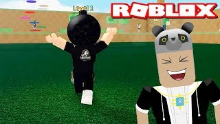 I'm Running From the Bomb-Headed Panda! We've Entered The Little Games - Roblox Ripull Minigames with Panda