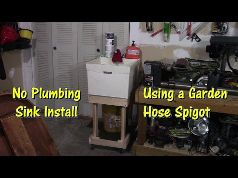 how-to-install-a-sink-in-your-garage-by-@gettinjunkdone