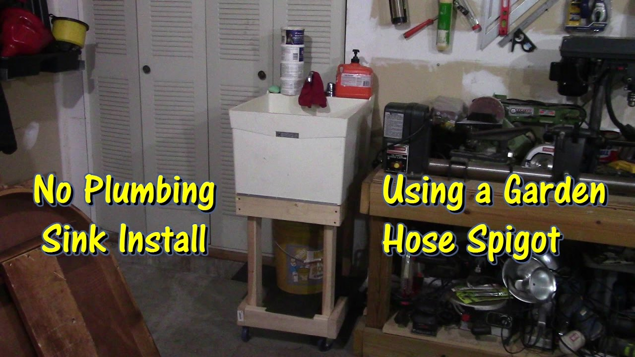 Garage Utility Sink How To Install A Sink In Your Garage By Gettinjunkdone