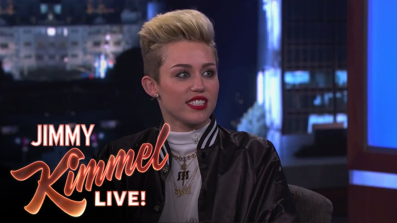 f0a0914dc19506 Miley Cyrus on Jimmy Kimmel Live PART 2 - YouTube
