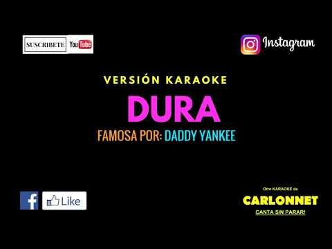 Dura - Daddy Yankee (Karaoke)