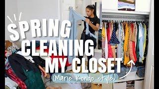 Spring Cleaning & Organizing My Closet (Marie Kondo Style)