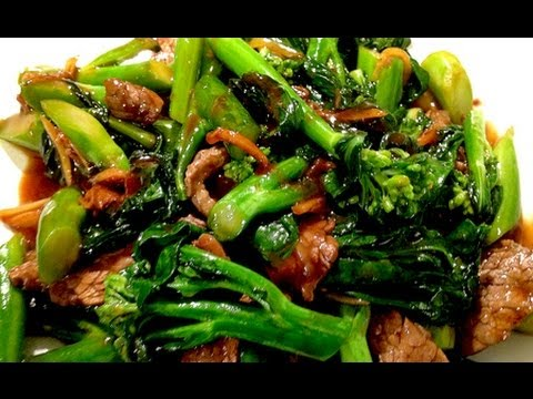 Stir fry chinese broccoli with flank steakbeef youtube forumfinder Images