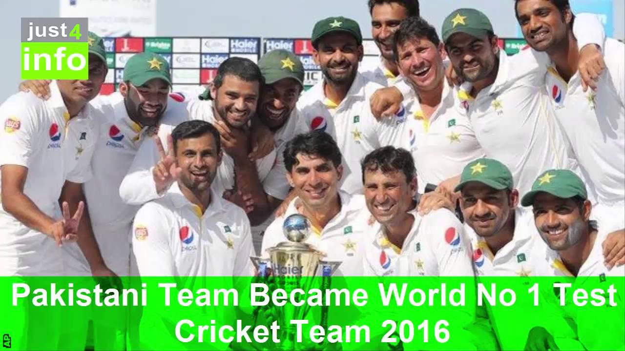 Pakistani Team Became World No 1 Test Cricket 2016 Celebrations Just4info