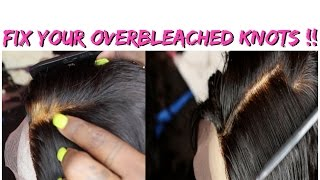 How To Fix Over Bleached Knots on a Lace Closure (Blonde Root Correction)   Aliexpress