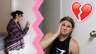 CRYING WITH THE DOOR LOCKED PRANK ON GIRLFRIEND!! | *Cute Reaction*