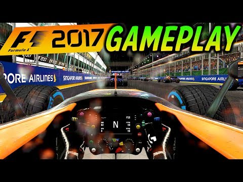 F1 2017 Gameplay: MCLAREN AT SINGAPORE! - LAST TO ? CHALLENGE