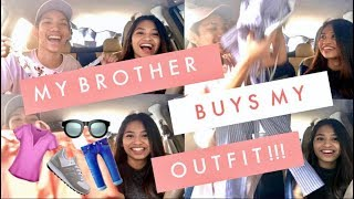 My Brother Buys My Outfits Challenge!
