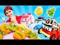 Игры для детей Кухня! Маша Капуки Кануки и машинки готовят вместе. Видео с игрушками
