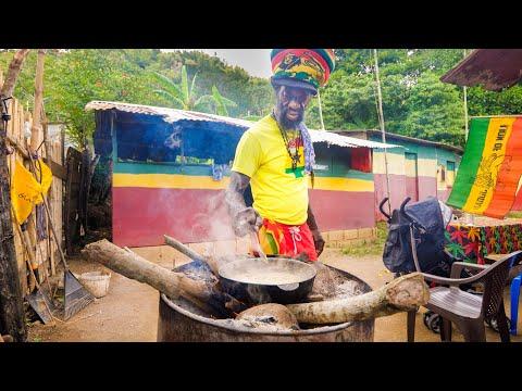 The Boss of RASTA JAMAICAN FOOD!! 🇯🇲 Legendary Ras Mokko at @Ras Kitchen - Jamaica!
