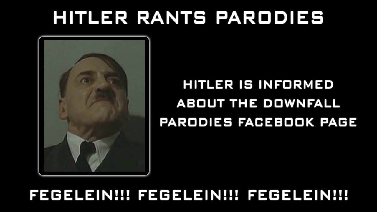 Hitler is informed about the Downfall Parody Facebook Page