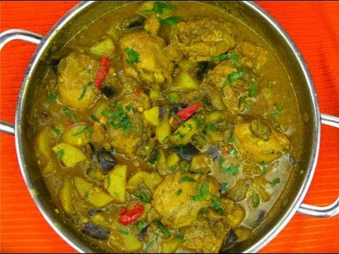Curry Chicken With Eggplant Simmered In Coconut Milk