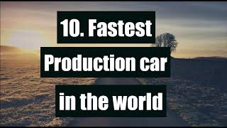 10 Car Facts Every Petrolhead Should Know