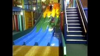 Down the slides at Willow Farm