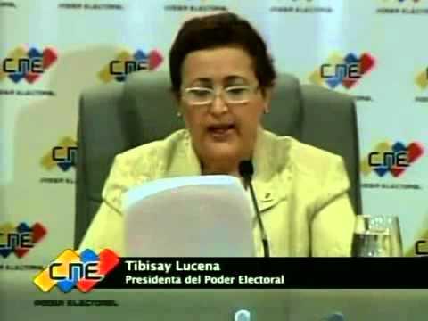 Cadena del CNE: Tibisay Lucena anuncia que se hará auditoría sobre 46% de mesas no auditadas