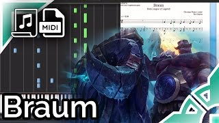Braum Theme - League of Legends (Synthesia Piano Tutorial)