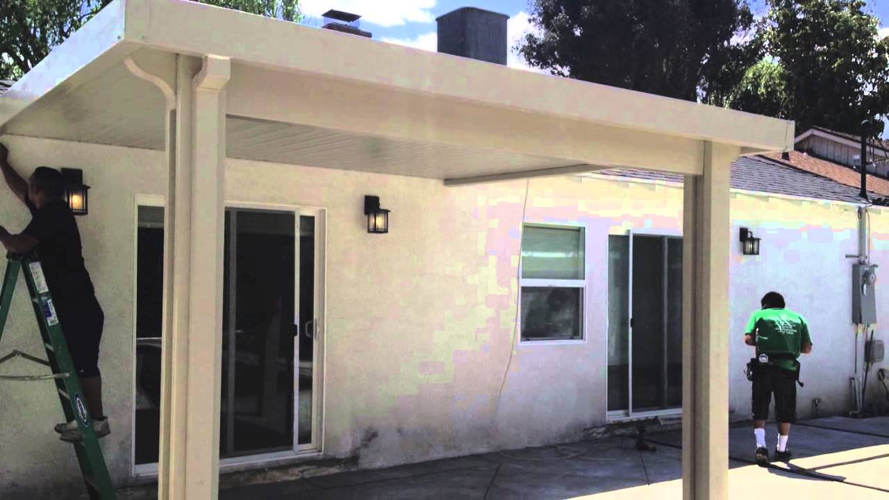 Beautiful Patio Cover Installation   YouTube