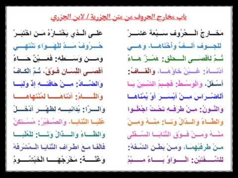باب مخارج الحروف من الجزرية بصوت الشيخ سعد الغامدي