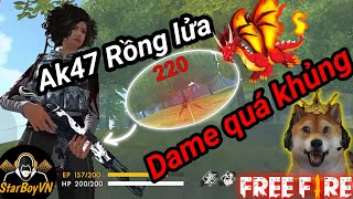 [Garena Free Fire] AK47 Rồng lửa - 1 viên 220 dame | StarBoyVN