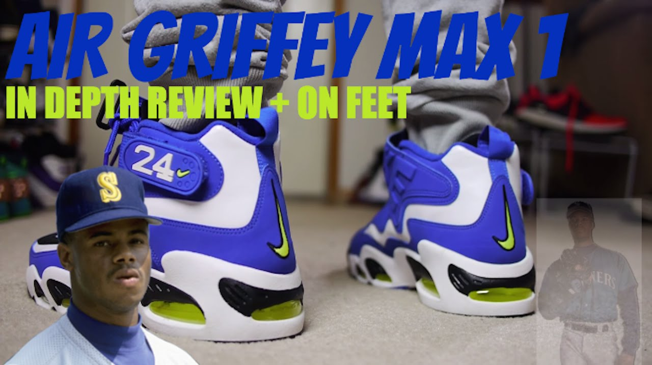 quality design 125de 83e53 NIKE Air Griffey Max 1 Varsity Royal Volt- Review + On Feet - YouTube