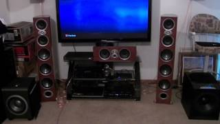 Polk RTI A9 speakers ,JBL and Velodyne subs playing