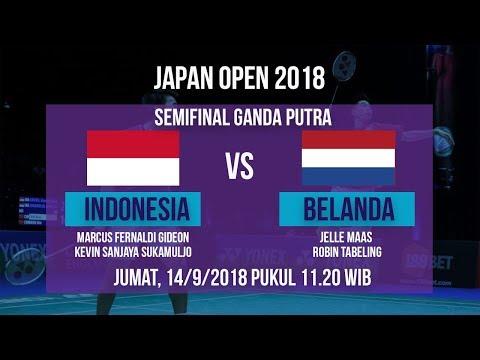 Jadwal Live Semifinal Ganda Putra, Marcus/Kevin Sanjaya Vs Belanda Di Japan Open 2018